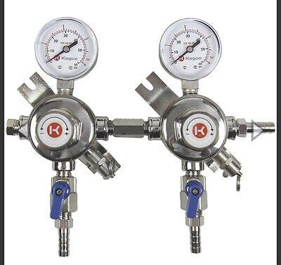 Micro Matic CO2 Single Regulator Secondary Low Pressure 8011 Economy Series USED