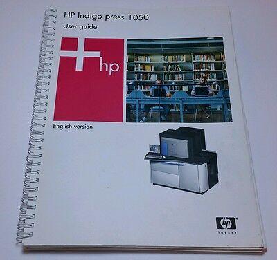 Genuine Hp Indigo Press Series 1050 User Guide Users Owners Manual Book Booklet