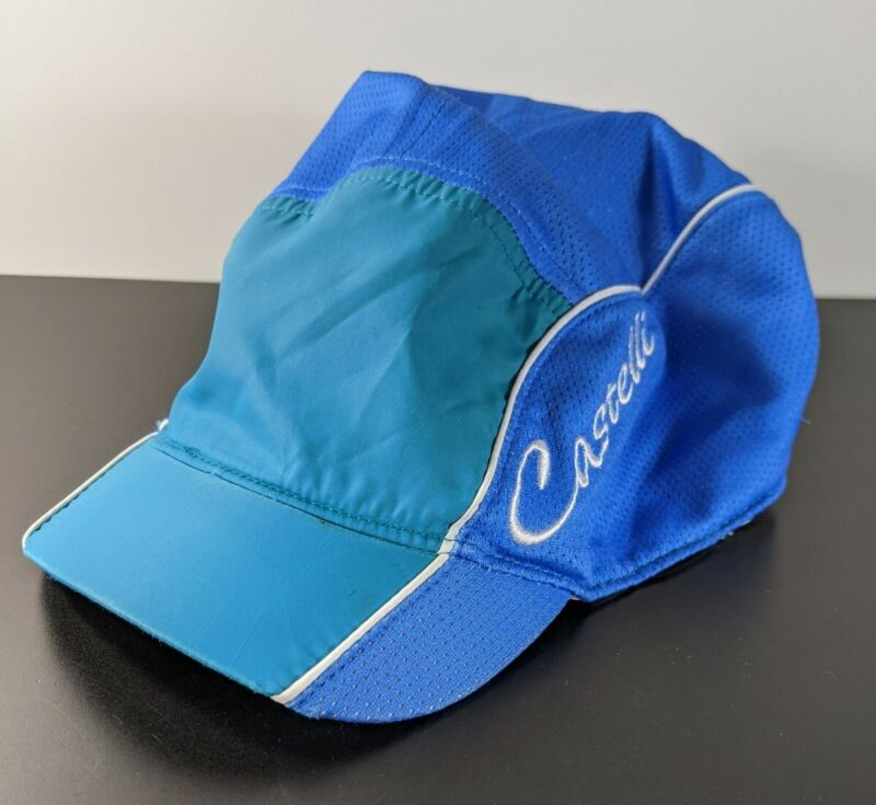 Castelli Blue And Teal Pony Tail Cycling Cap Hat Casquette