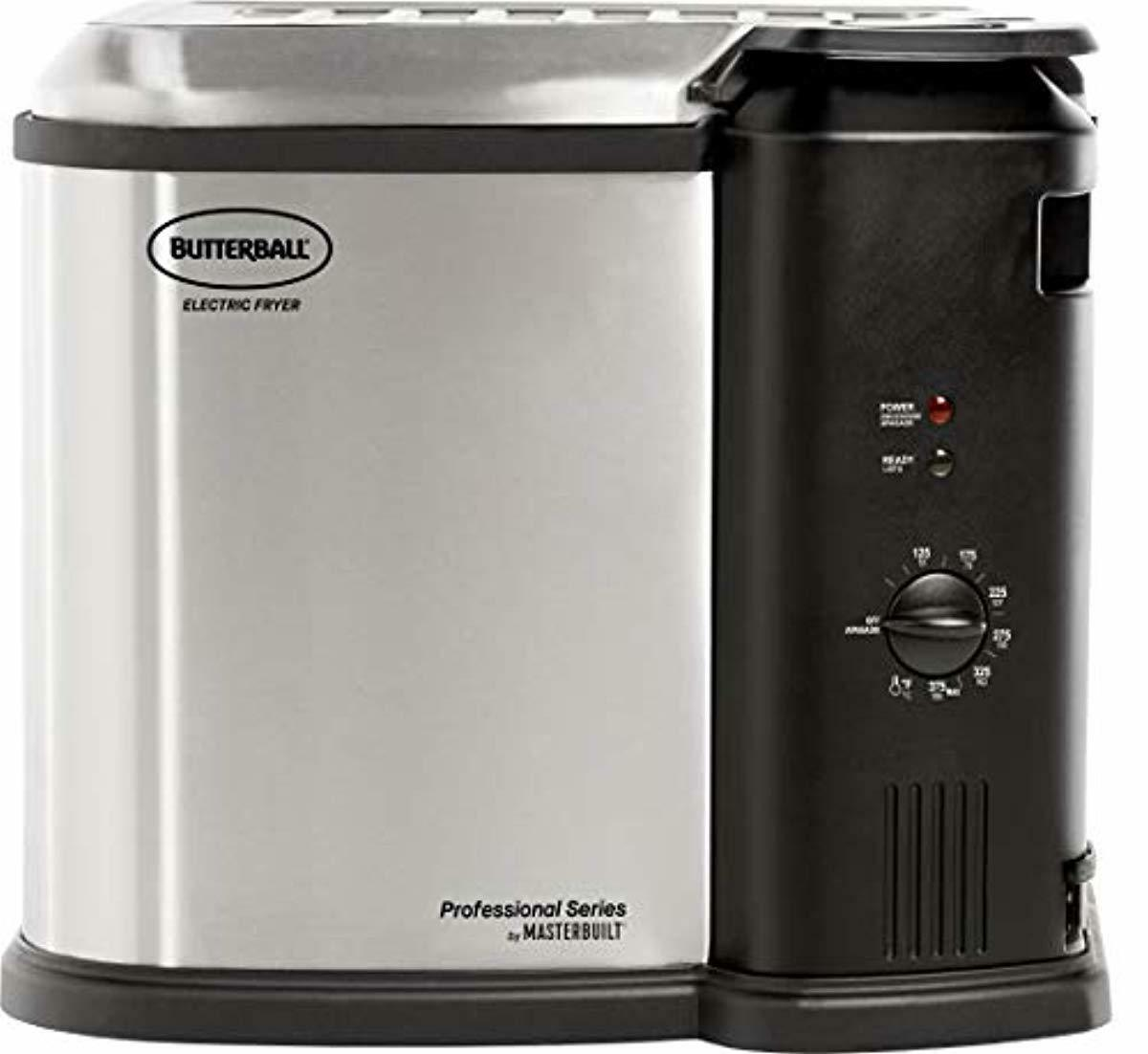 Masterbuilt Butterball XL Electric Fryer Timer Stainless 20L