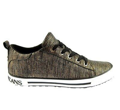 Schuhe Womens Jeans (ARMANI JEANS 925907 Damen Women Sneaker Schuhe Shoes Gold Rust Brown UVP:160€)