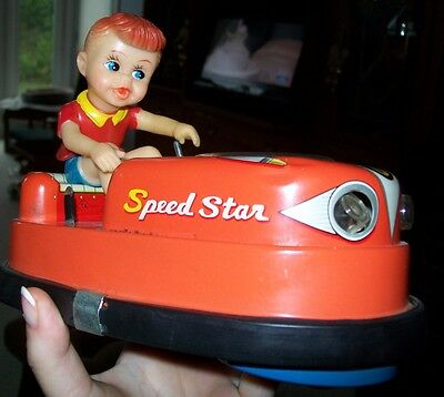 Tn Nomura Speed Star Happy Drive Bumper Rare Vintage Tin Toy Works
