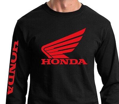 Honda Wing Long Sleeve T-shirt Jersey HRC Motorcycle Racing CRF 250 450 TRX CBR Bike Long Sleeve Tee