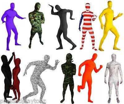 Lycra Spandex Zentai Full Body Hood Suit Costume Party Costumes Skin Tight XS-XL](Body Costumes)