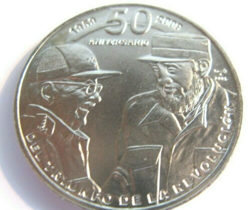 -VINTAGE COIN - ** FIDEL and RAUL** — $1 peso *50 yrs of Revolution* 2009