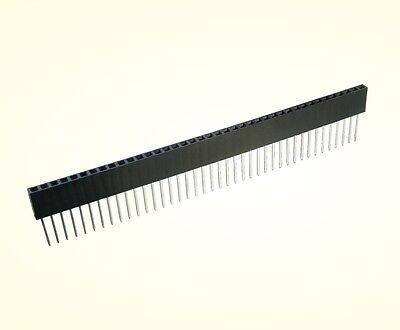 4 x Buchsenleiste 40 Pin, Pin-Länge 10,5mm, einreihig gerade 2,54mm