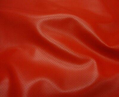 - Perforated  Vinyl Faux Leather Fake upholstery Red commercial grade upholstery