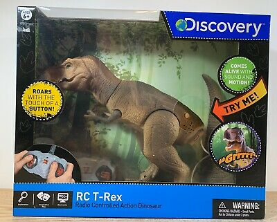 Discovery Remote Control RC T-Rex Dinosaur Electronic Toy Action Roar Chomp NEW