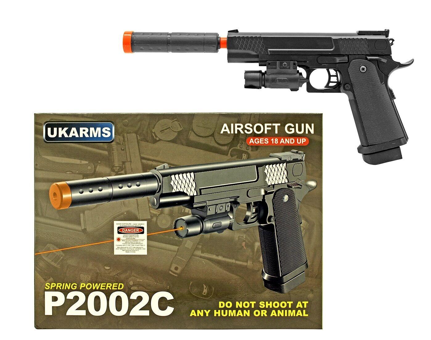 "13.25"" Spring 1911 Replica Airsoft Pistol Laser Pointer Hand"