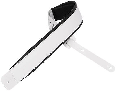 "Levy's Leathers Guitar Strap, DM1PD-WHT, 2½"" leather guitar"