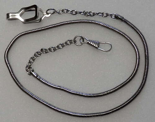WHISTLE CHAIN Silver-tone with epaulet style hook-nickel police/sheriff/security