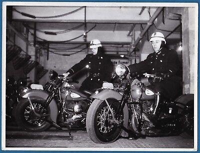 large vintage photo motorbike bike Harley Davidson Brussels police foto moto 55