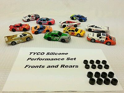 TYCO 440 440x2 silicone slot car tires Large Fronts & .448 Rears Full Sets Lot