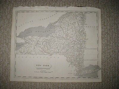MINT ANTIQUE 1805 NEW YORK ARROWSMITH & LEWIS COPPERPLATE MAP CITY LONG ISLAND