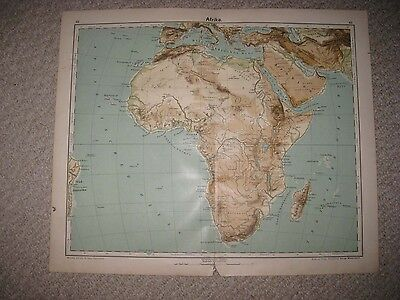 SUPERB 3 ANTIQUE 1906 AFRICA GERMAN RACE CULTURE MAP COLONIAL SUPERB RARE NR