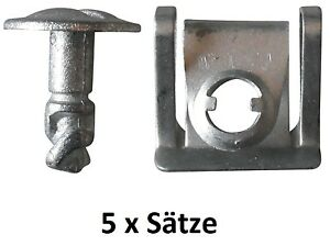 5 Set Halteklammer Motorschutz Schraube Unterschutz Unterboden Audi VW - NEU
