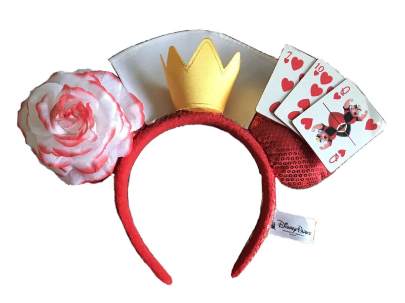 Disney Parks Villains Queen Of Hearts Minnie Mouse Ears Alice Wonderland Limited