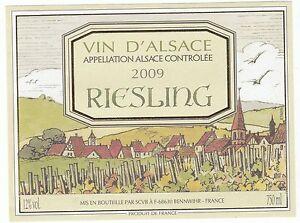 Etiquette de vin de france riesling vin d alsace 2009 ebay for La fenetre pinot noir 2009
