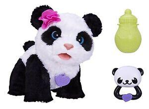 Furreal Panda Bear Friends Pom Pom Pet Electronic Walking Talking Soft Plush Toy