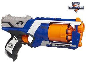 nerf gun elite strongarm blaster 20 metre range new free uk delivery ebay