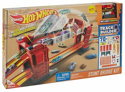 Hot Wheels Track Set Builder Stunt Bridge Kit Car Racing Playset Kids Toy Gift