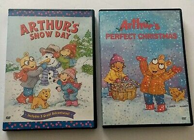 ARTHUR'S Snow Day & Perfect Christmas DVD Lot Of 2 Kids Holiday Cartoon Rare VG ()