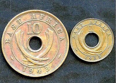 East Africa 1935 1 Cent & 1943 10 Cent Coins for sale  Stoney Creek