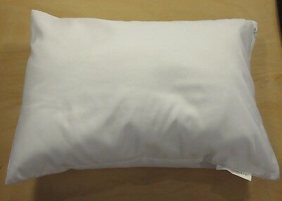 "White Travel Pillow Cover Case 14""X 20"" Pillow Zipper Pillowcase AllerEase New i"