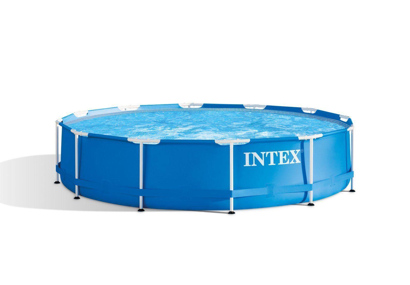Intex 28210NP Metallrahmen Pool - 366x76cm, Blau   eBay