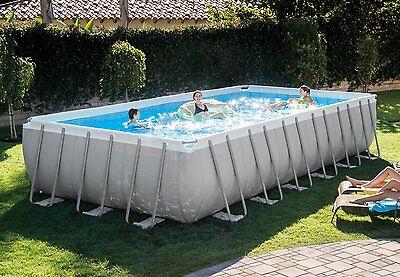"12'x24'x52"" Intex 28365EH Rectangular Ultra Frame Above Ground Swimming Pool Kit"