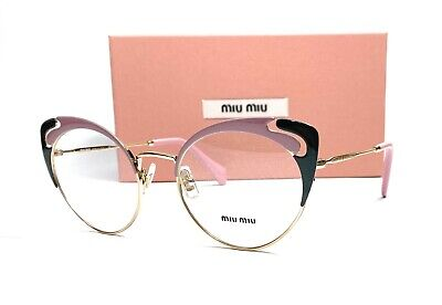 MIU MIU VMU 50R M1R-1O1 Pale Gold Alabaster Demo Lens Women's Eyeglasses 52mm