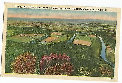 Seven Bends Of Shenandoah River And Valley Virginia Vintage Postcard