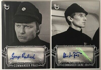 Star Wars Black & White Topps 2018 George Roubicek & Al Lampert Autograph Cards