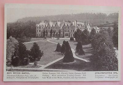 RP Postcard c.1920 BENWYVIS HOTEL STRATHPEFFER ROSS & CROMARTY SCOTLAND
