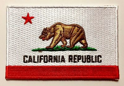 California State Flag Embroidered Patch 2 25 X3 5  Iron On Or Sewn Applications