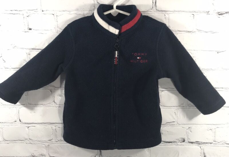 Tommy Hilfiger Toddler Zip Up Fleece Jacket Size 18-24 Months
