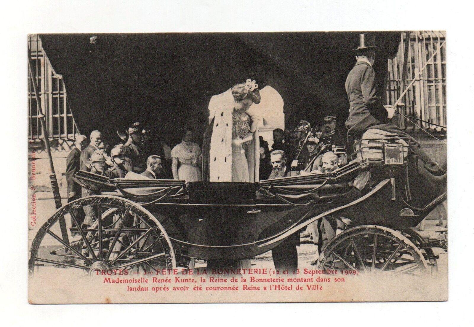 Troyes - fête de la bonnetière - 1909 - la reine   (a2011)