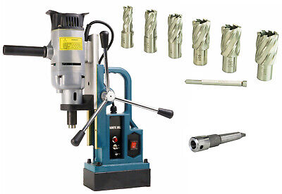 Steel Dragon Tools Md25 Magnetic Drill Press With 7pc 1 Large Size Cutter Kit