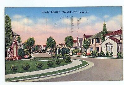 Marvin Marven Gardens ATLANTIC CITY NJ Vintage New Jersey Postcard