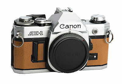 Canon AE-1 Replacement Cover - Laser Cut Recycled Leather - 5 Colors