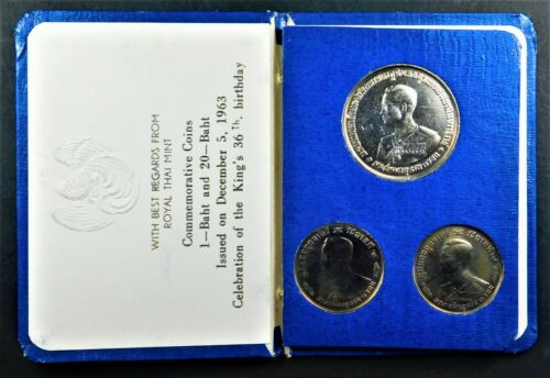 Thailand 1963 Commemorative Coin Set