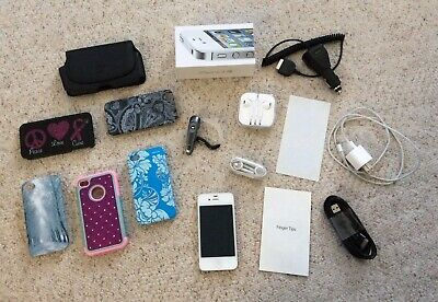 Apple iPhone 4S - Used- 16GB - AT&T - White, Bundle, No Sim Card, Model A1387 for sale  Zimmerman