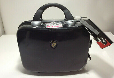 "Heys Milano Black Cosmetic Luggage case, L 11""xH 9""x Deep 5.5"" NWT."