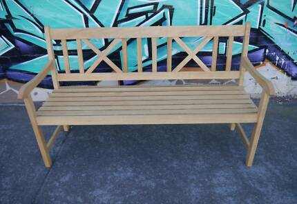 New National Cross Bench Seat Natural Timber Outdoor Furniture