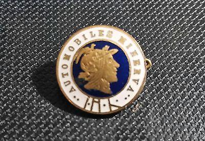 Minerva Brosche Automobile blau emailliert 16mm 20er Jahre alt+original