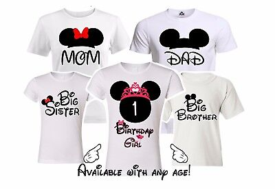Minnie Birthday Girl Family Matching shirts. disney Vacation Mickey party shirts - Girls Apparel