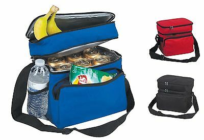 """10"""" Cooler & Lunch Bag Tote in One Beer Picnic Water Box Secure Insulated Pocket"""