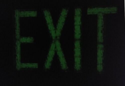 Permex T-4001 Green EXIT sign Self-Luminous TRITIUM