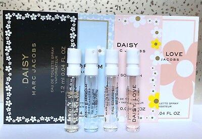 4 MARC JACOBS EDT Samples DAISY Eau So Fresh, Daisy Dream, Daisy Love  FREE GIFT (Daisy Love)