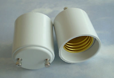 (TWO (2) Adapters to Use E27/E26 Light Bulbs in a GU24 fixture base Adapter)